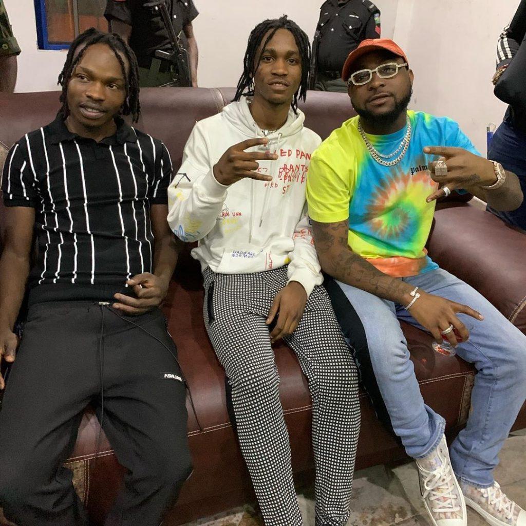 Naira Marley, Lil Smart and Davido