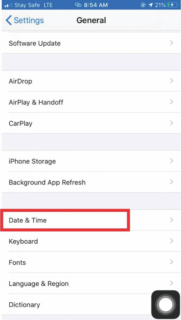 Date & Time iOS
