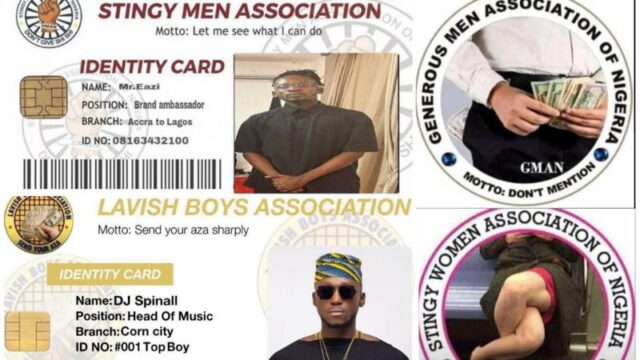 Stingy Men Association Of Nigeria; The Bitter Irony Of SWAN